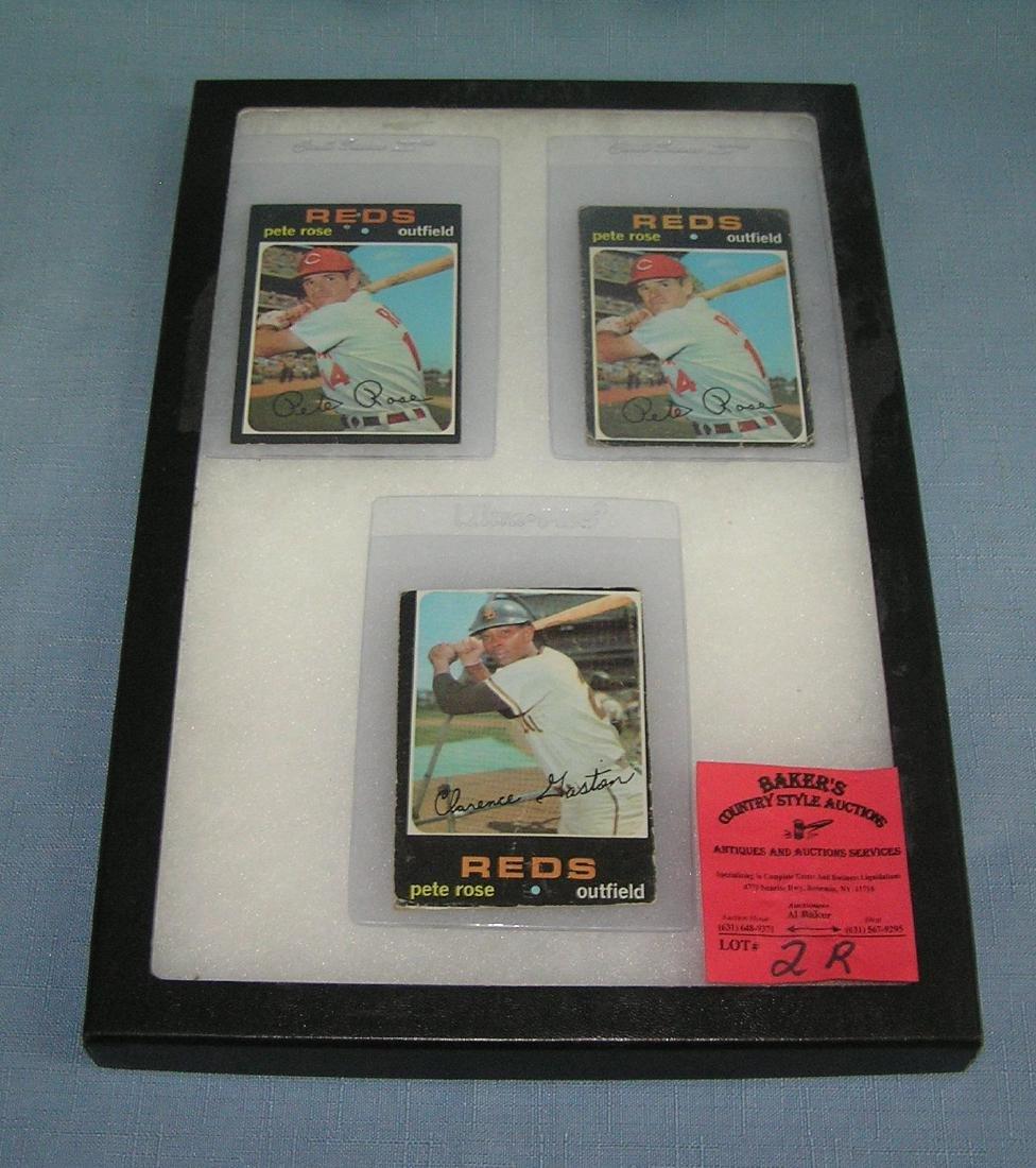 Group of vintage Pete Rose baseball cards