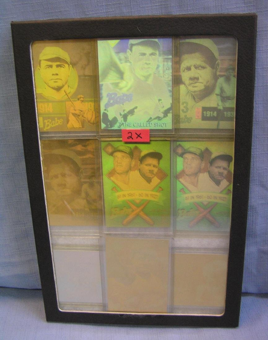 Babe Ruth all star 3-D baseball cards