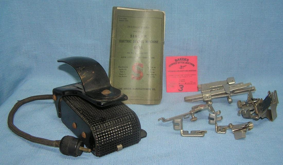Early sewing collectibles and accessories