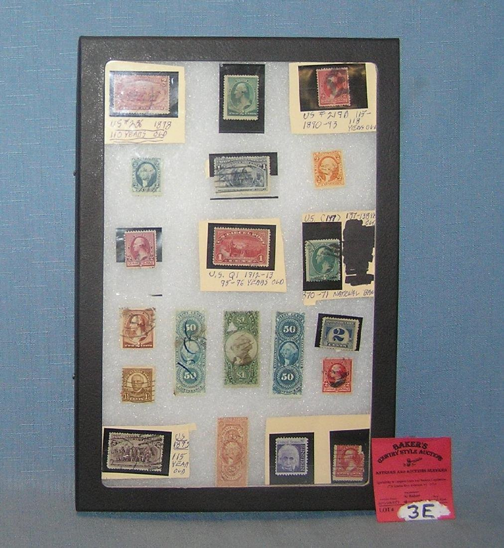 Group of real early US postage stamps