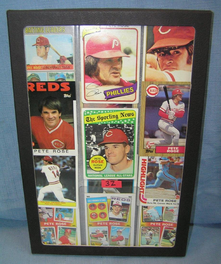 Collection of vintage Pete Rose all star baseball cards