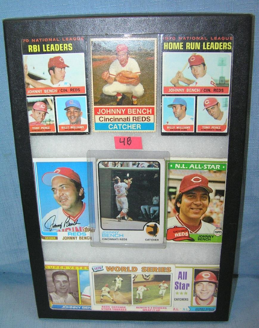 Vintage Johnny Bench all star baseball cards