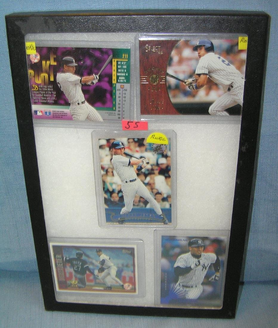 Vintage Derek Jeter all star baseball cards
