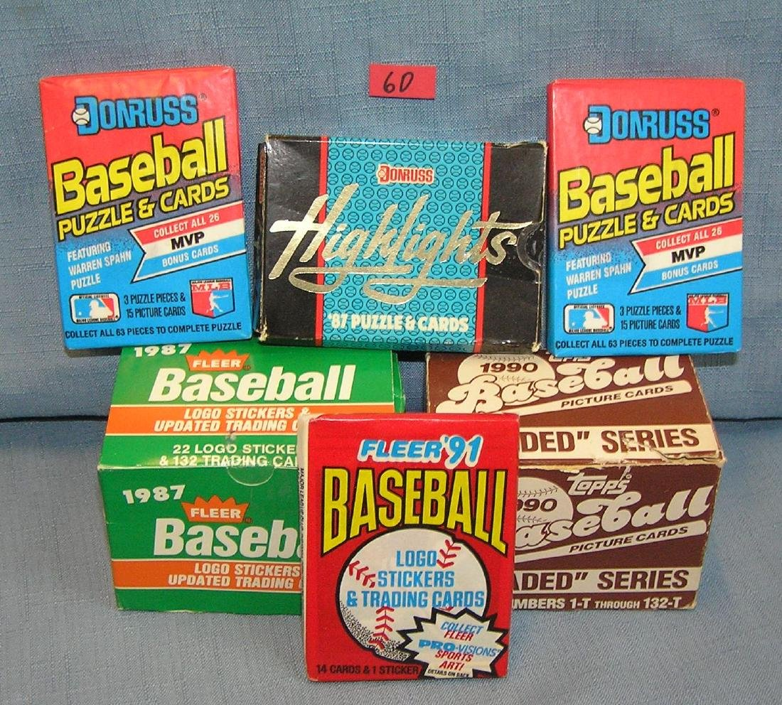 Group of vintage unopened packs and sets