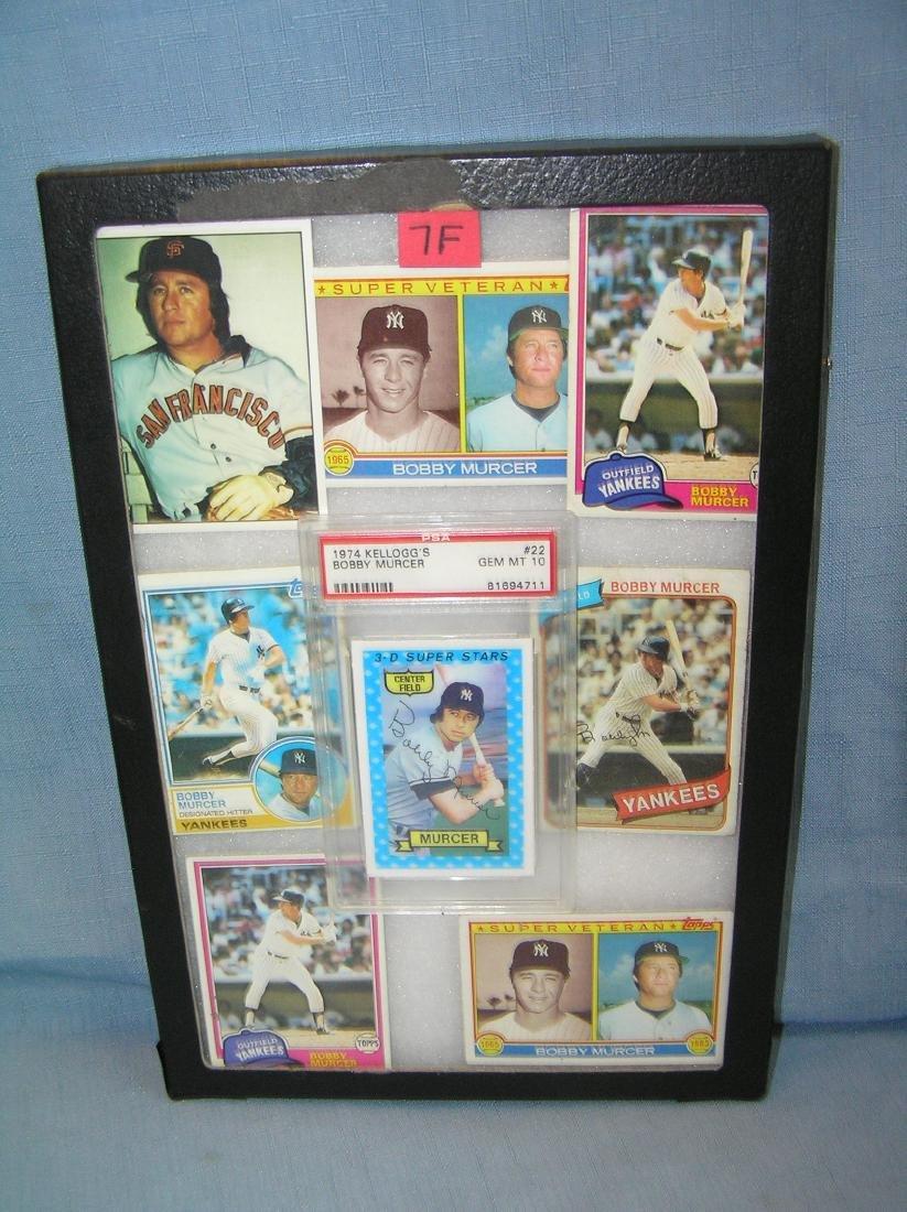 Vintage Bobby Mercer baseball cards