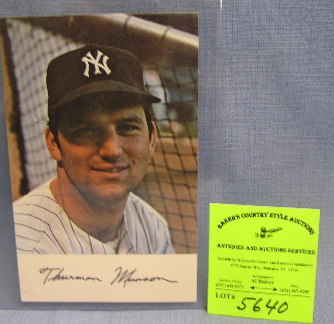 Vintage Thurman Munson photo card