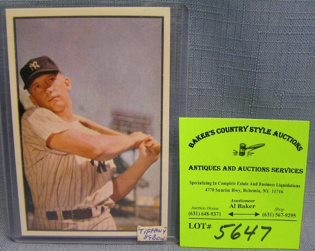 Bowman Mickey Mantle reprint baseball card