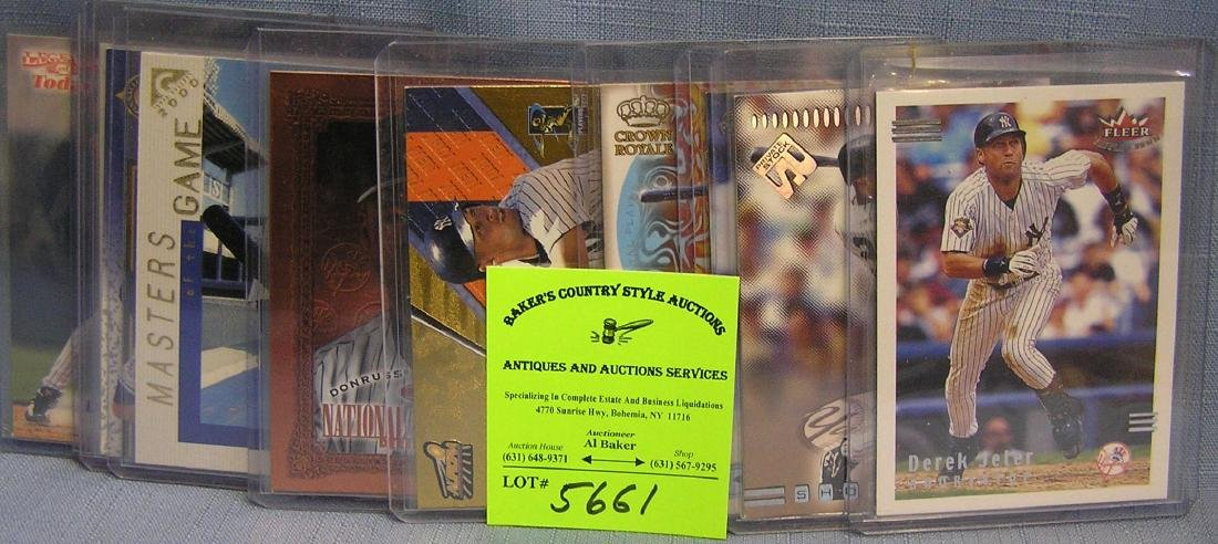 Group of vintage Derek Jeter all star baseball cards