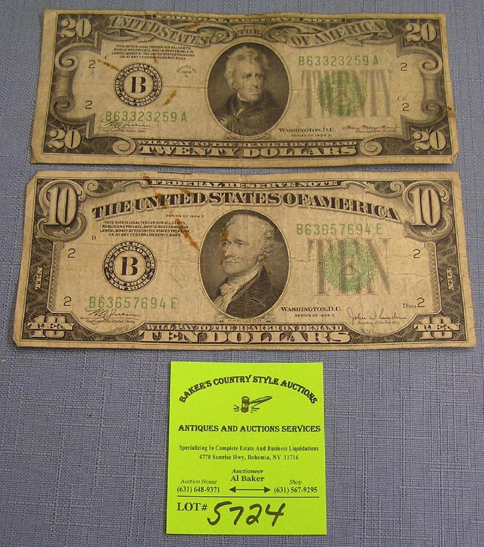 Pair of early US bills