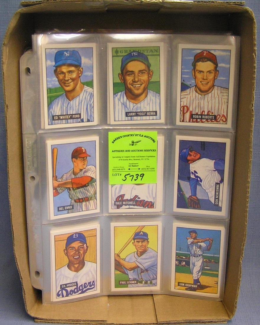 Quality antique style reprint baseball card collection