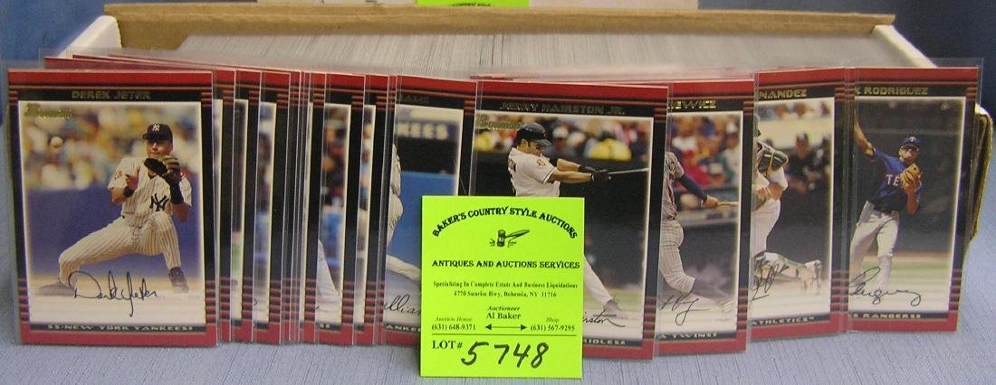Bowman baseball card set