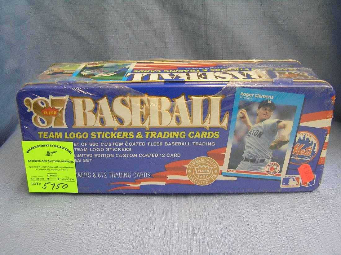 Fleer baseball card set in collector tin