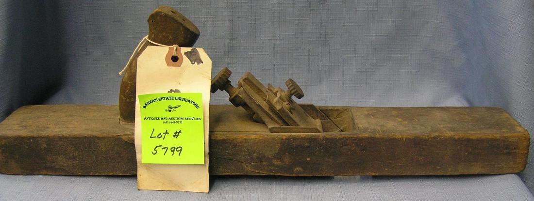 Large antique wood plane