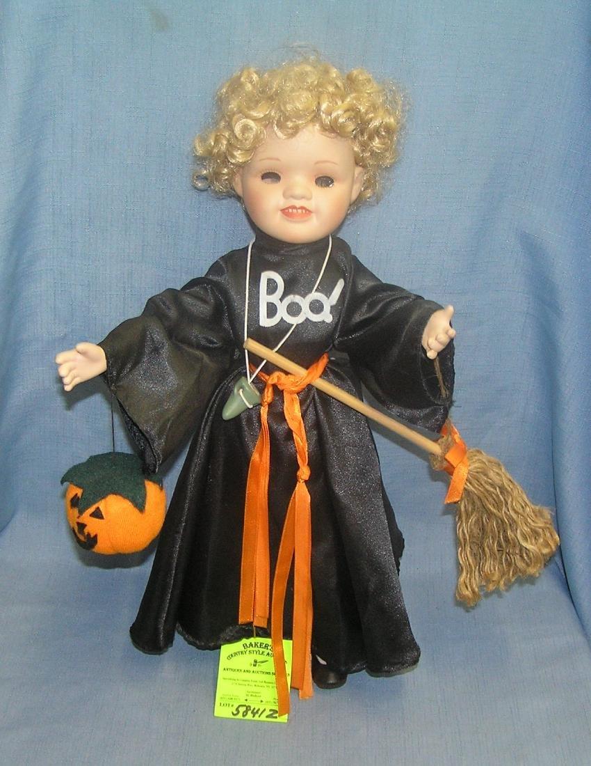 Spooky empty eye sockets Halloween doll