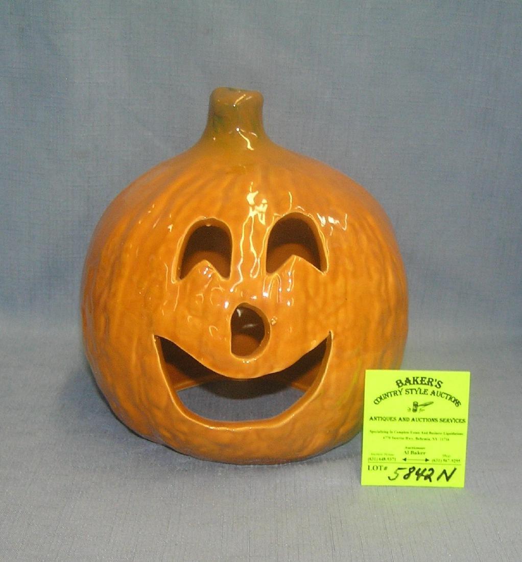 Vintage painted ceramic Jack O' Lantern