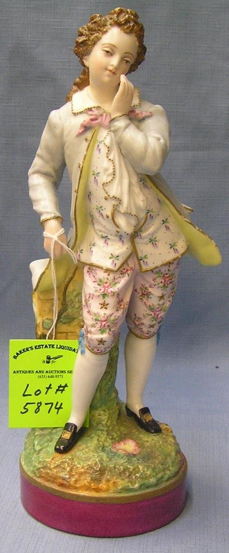 Early Victorian style hand painted male figure