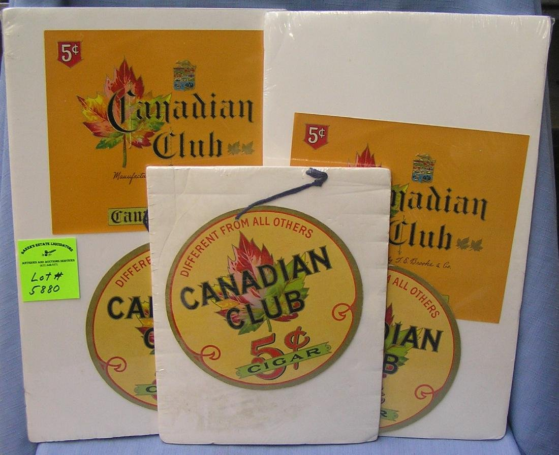 Group of three Canadian club advertising pieces