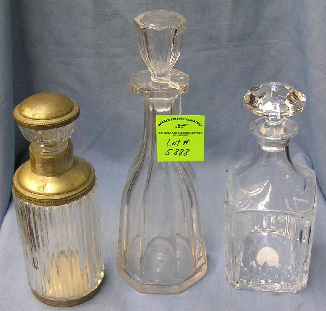 Group of three early decanters