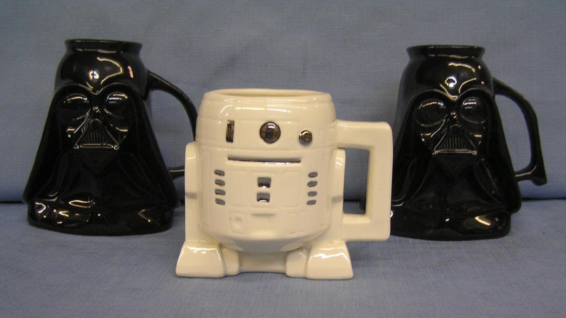 Group of 3 figural Star Wars mugs
