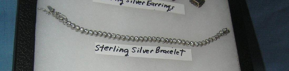 Sterling silver bracelet with semi precious stones