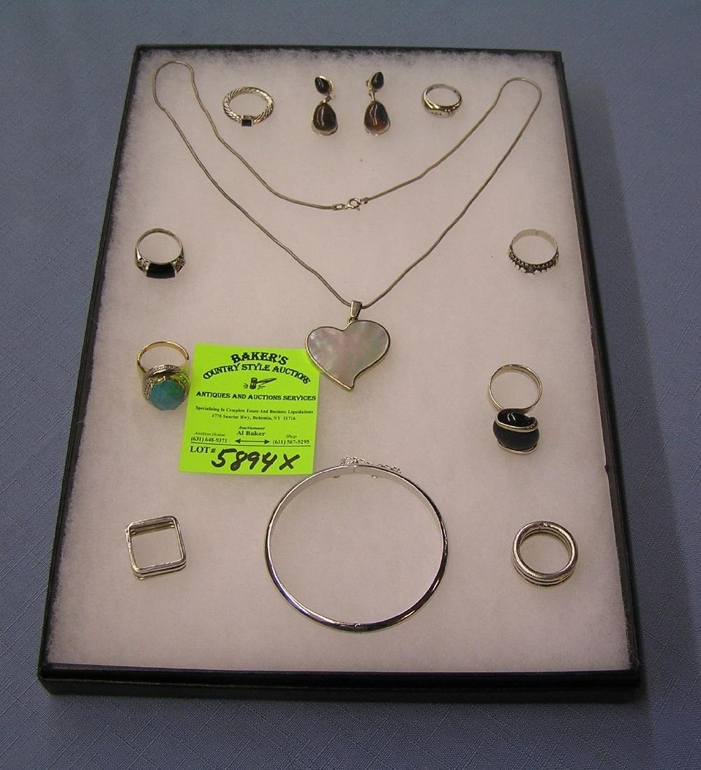 Large collection of sterling silver jewelry