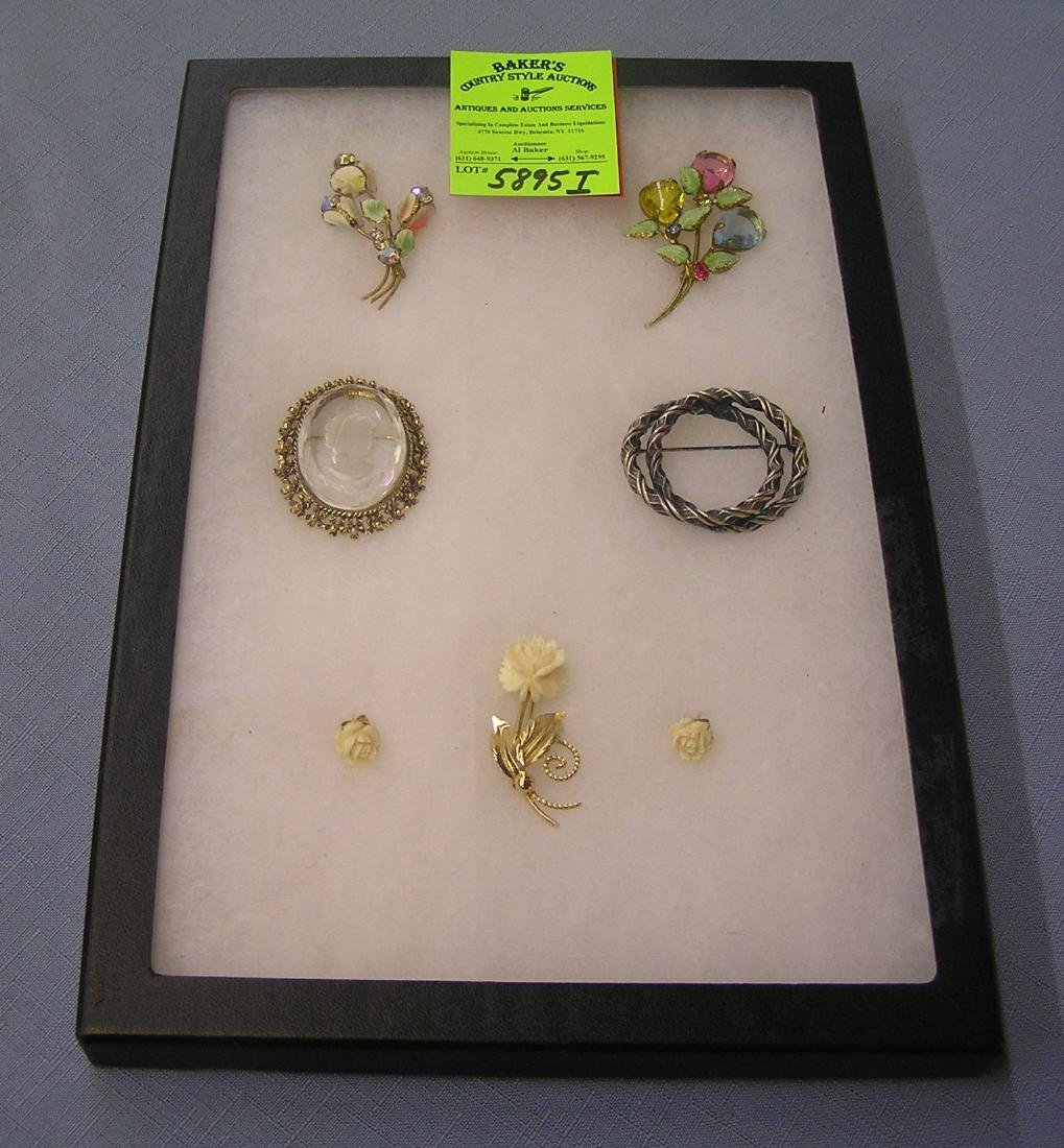 Group of high quality pins and earrings