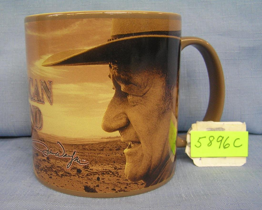 John Wayne American legend coffee mug