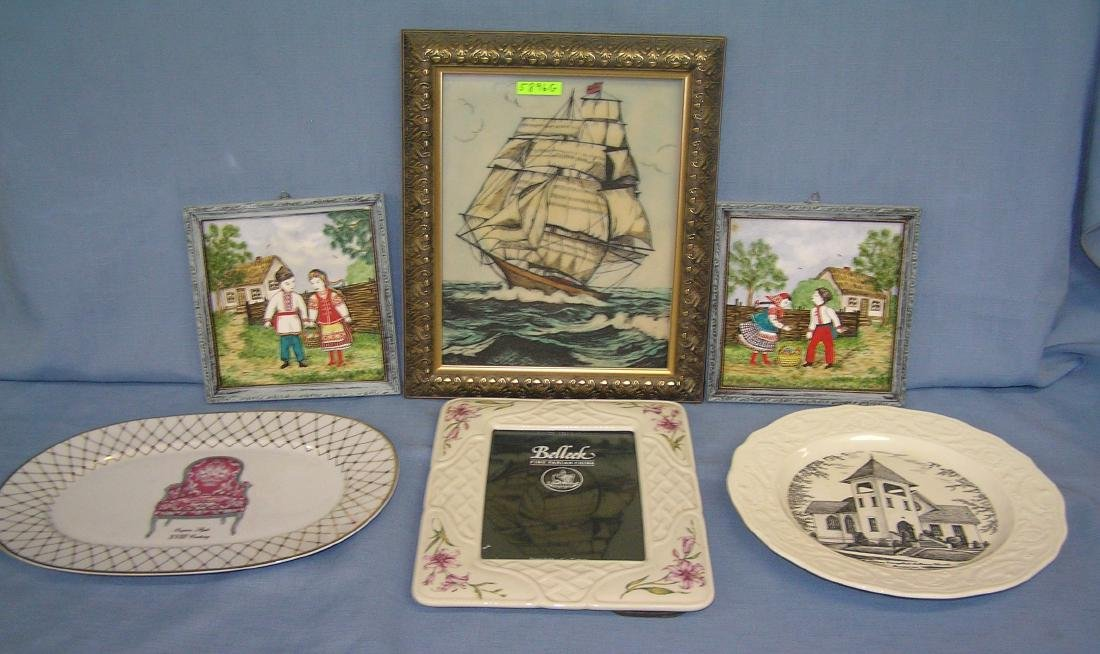Group of 6 collectible and decorative pieces