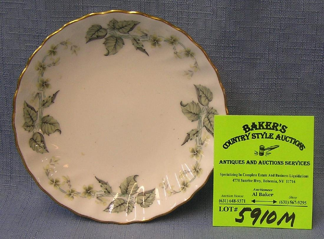 Vintage leaf decorated bone china dish