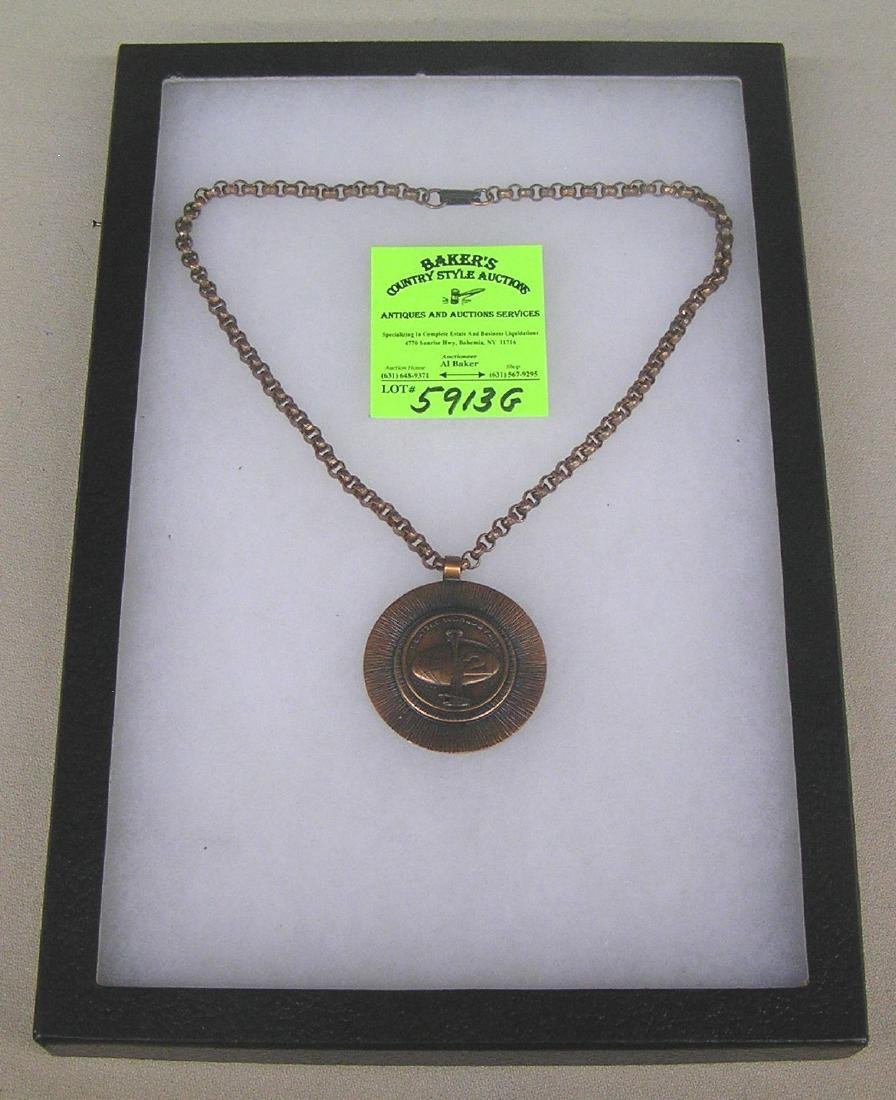 Vintage Seattle World's Fair copper necklace