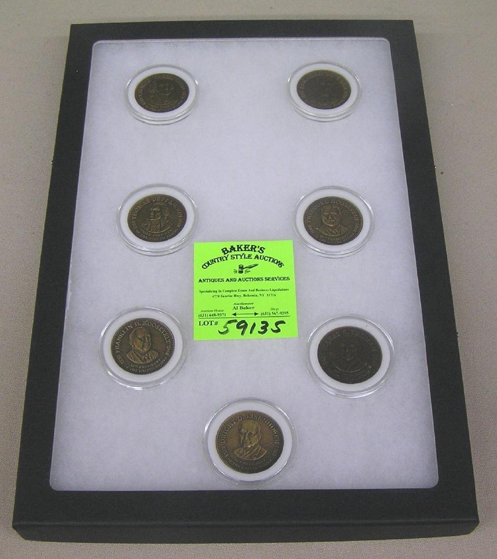 Collection of bronze Presedential coins