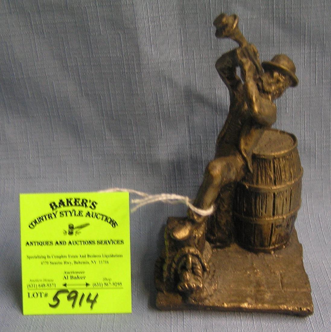 Bronze musician sculpture