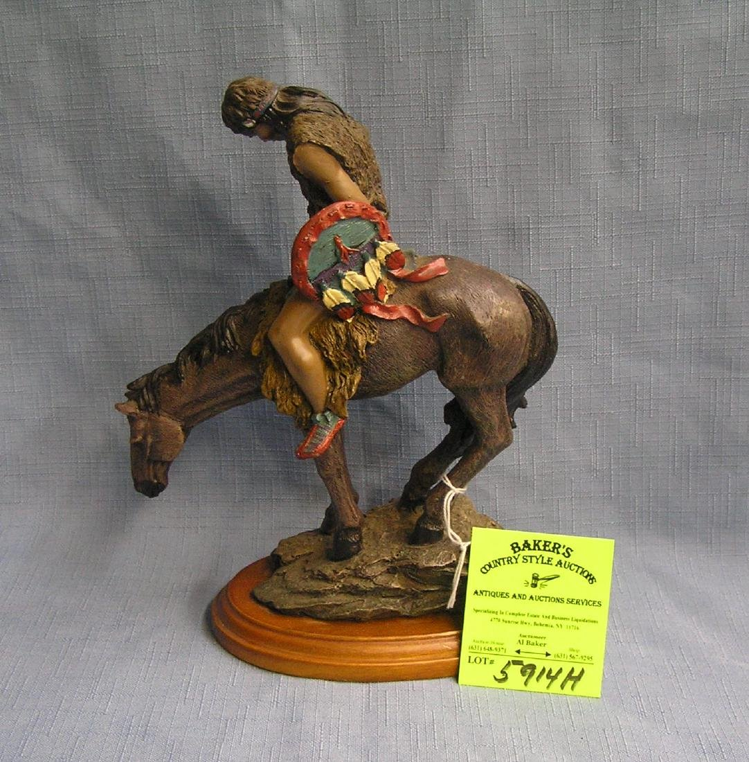"""American Indian chief """"End of the Trail"""" figure"""
