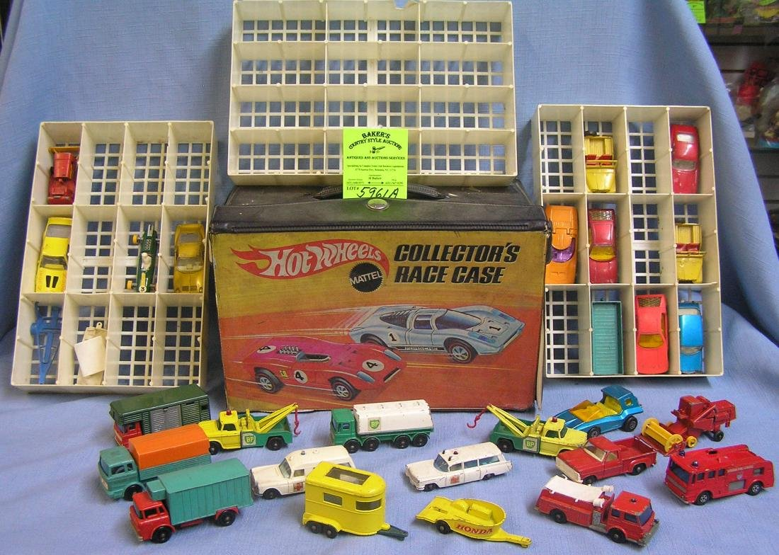 Large group of vintage match box cars