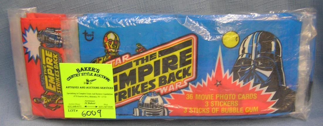 Group of vintage Star Wars empty rack packs