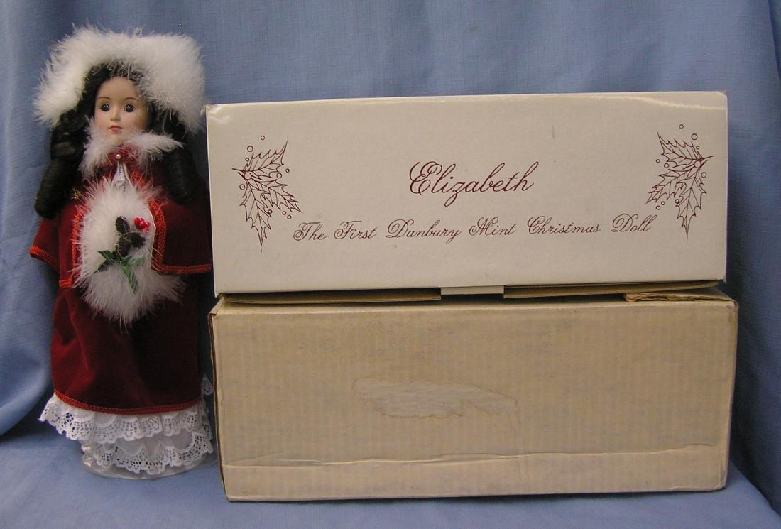 14 inch Elizabeth porcelain Christmas doll