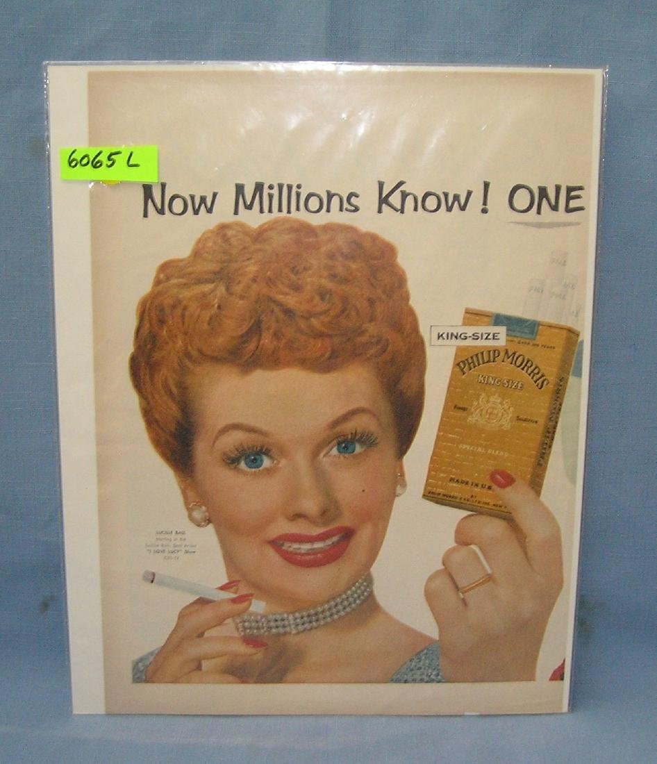 1950's Lucille Ball ad for Philip Morris cigarettes