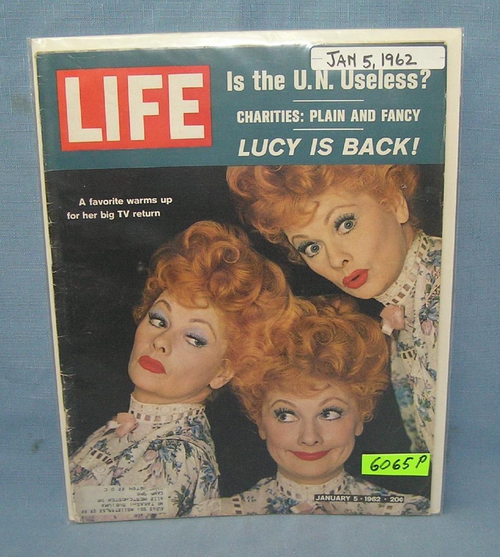 Vintage Lucille Ball LIFE magazine 1962