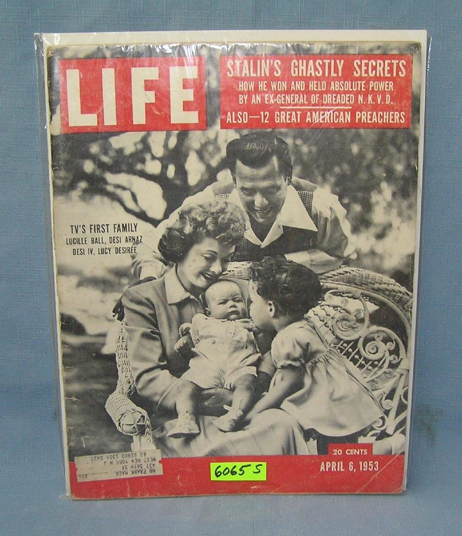 Lucille Ball and Desi Arnaz and family LIFE mag 1953