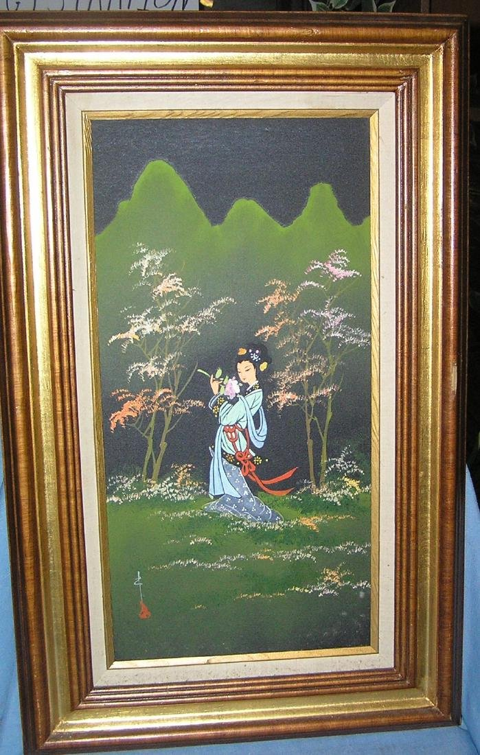 Original oriental oil on canvas painting