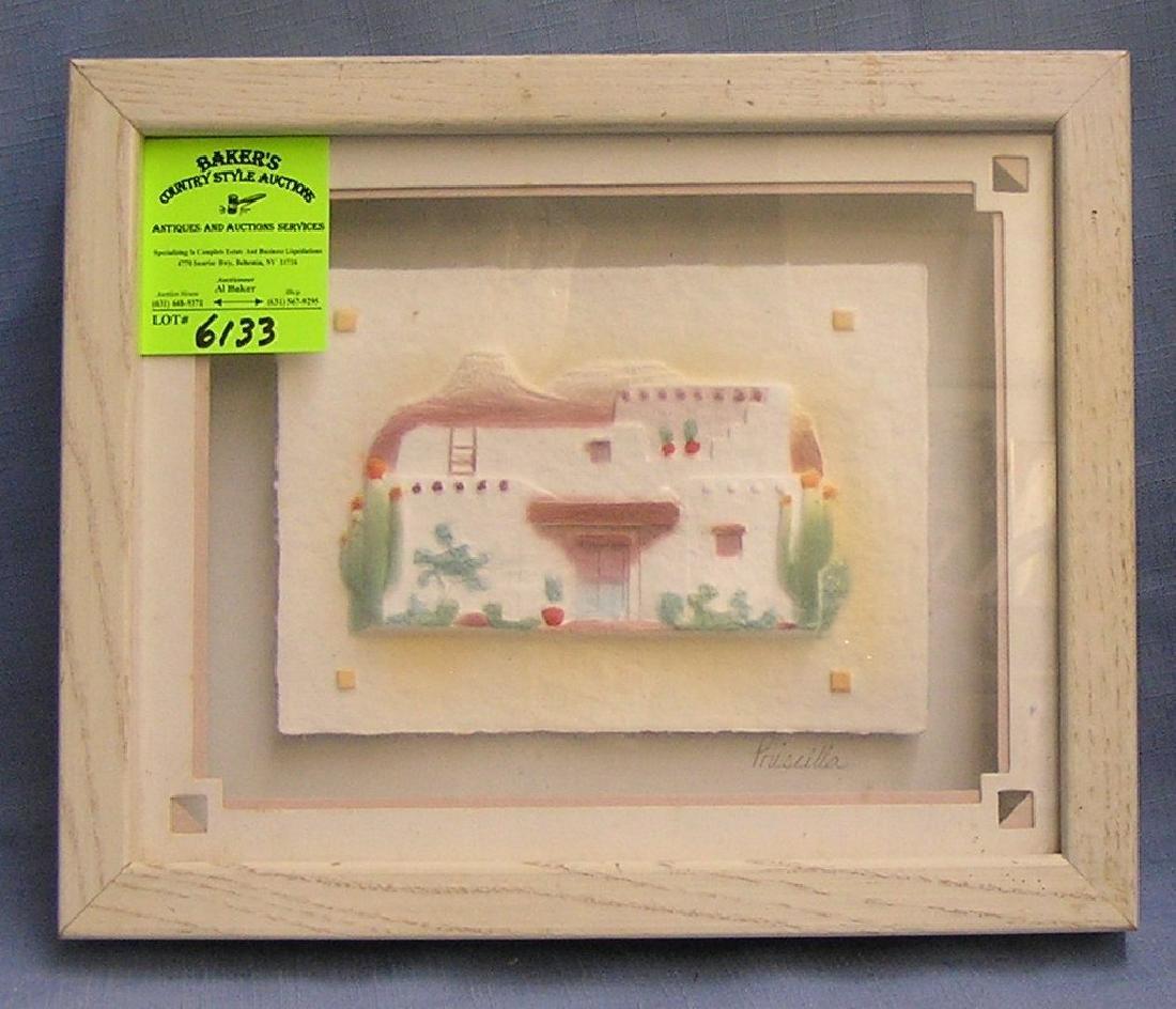 Artist signed framed artwork by Priscilla