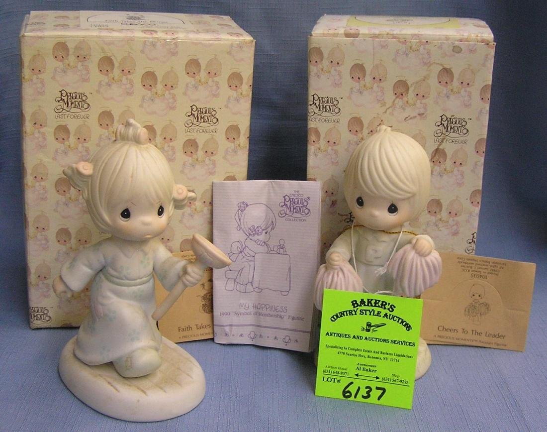 Pair of vintage Precious Moments figurines