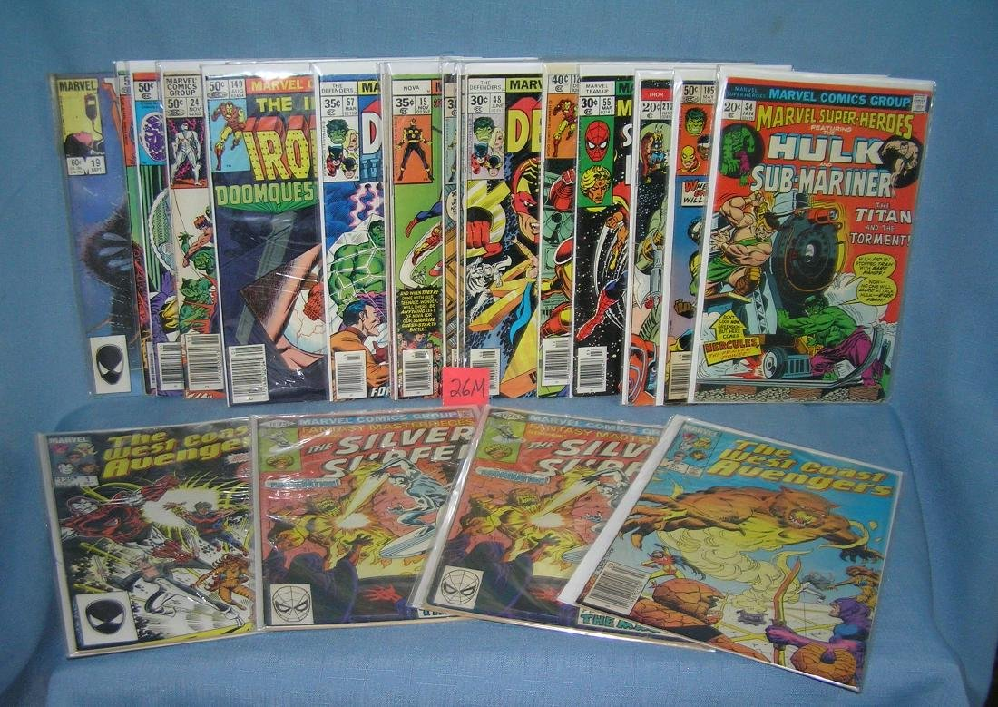 Large collection of vintage Marvel comic books
