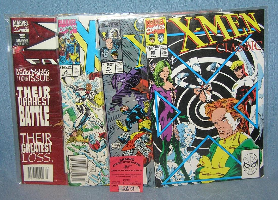 Group of vintage X-Men comic books