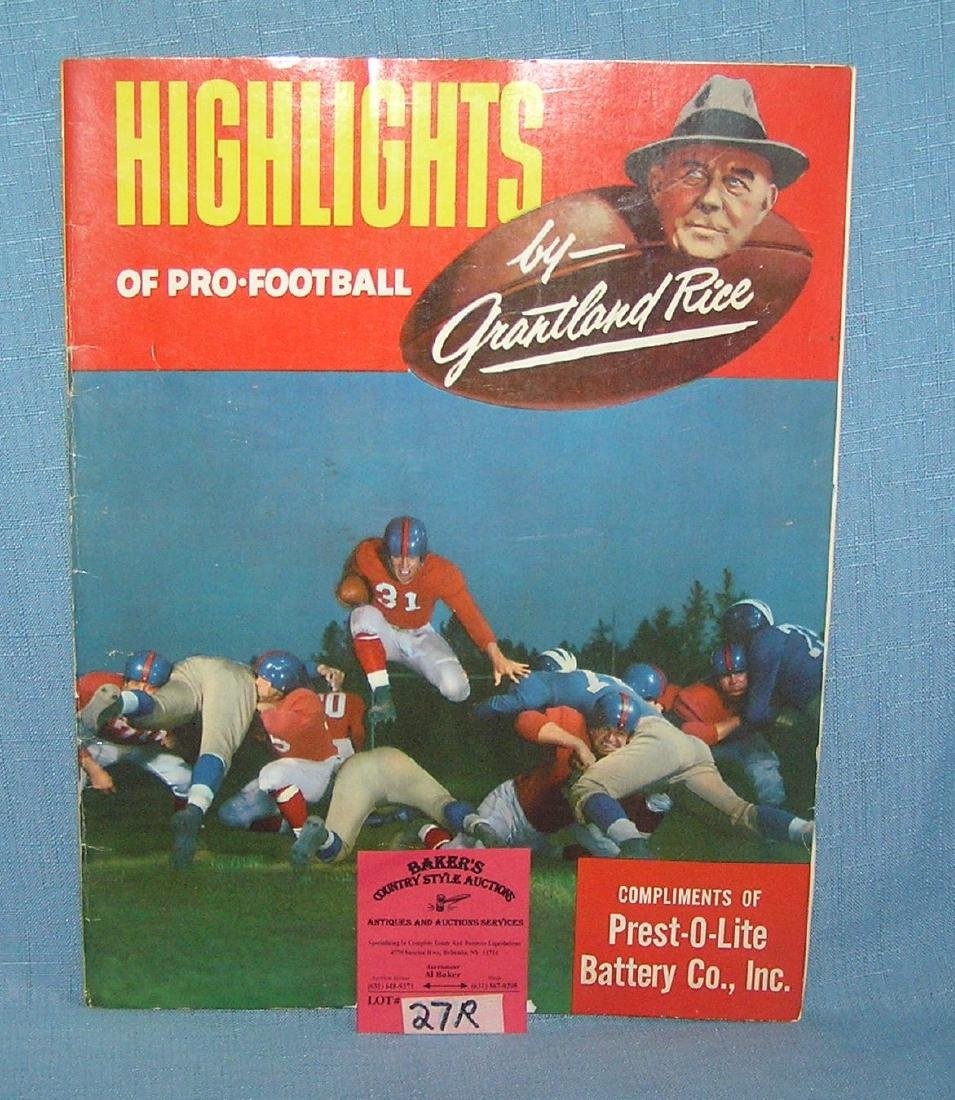 Highlights of pro football by Grant land Rice