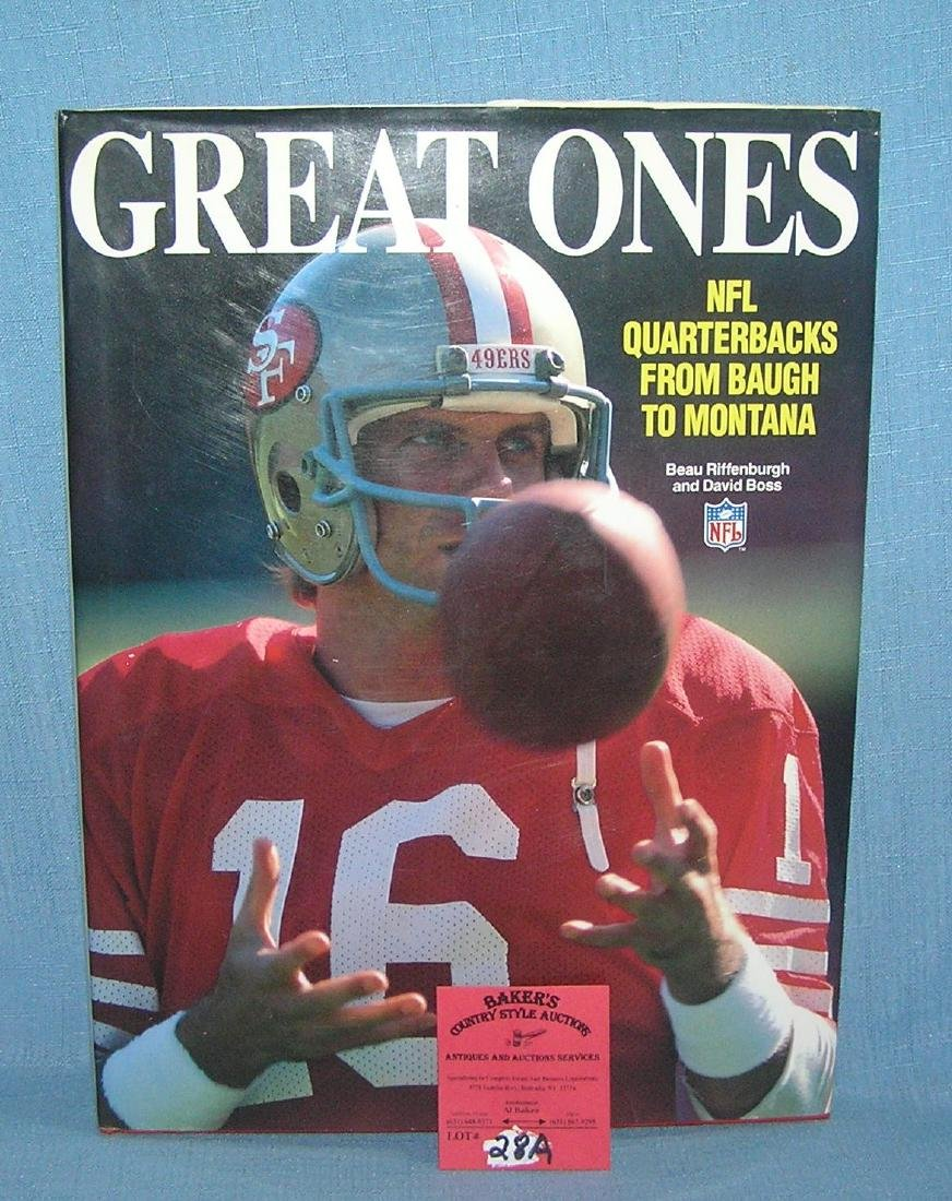 The Great Ones NFL quarterbacks from Baugh to Montana