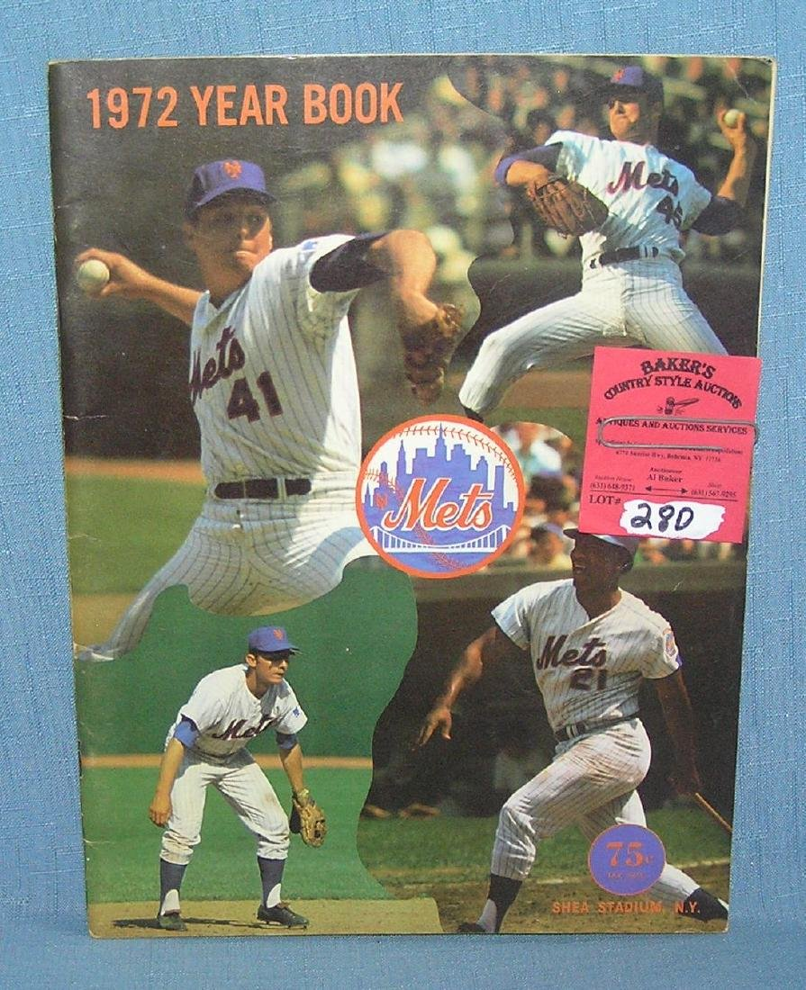 NY Mets 1972 official year book