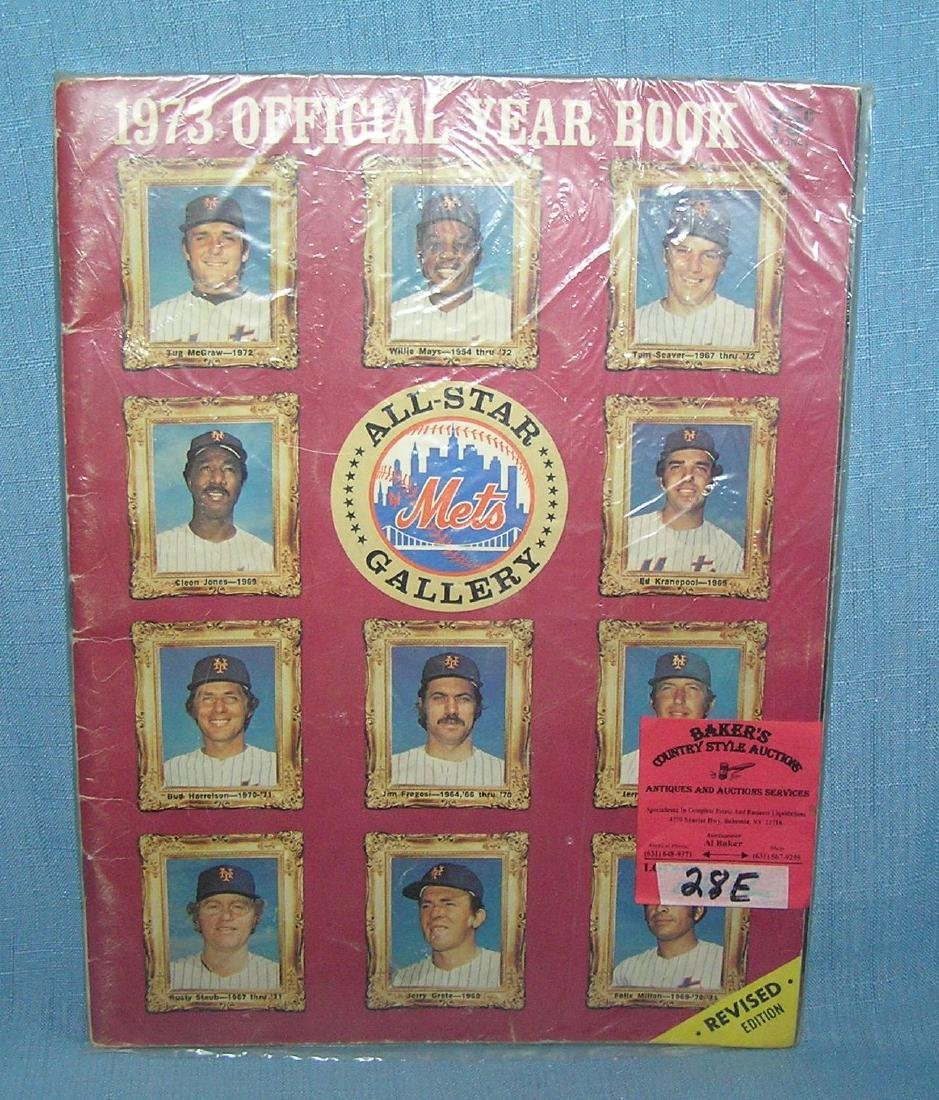 NY Mets 1973 official year book