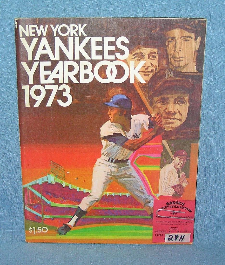 NY Yankees 1973 year book