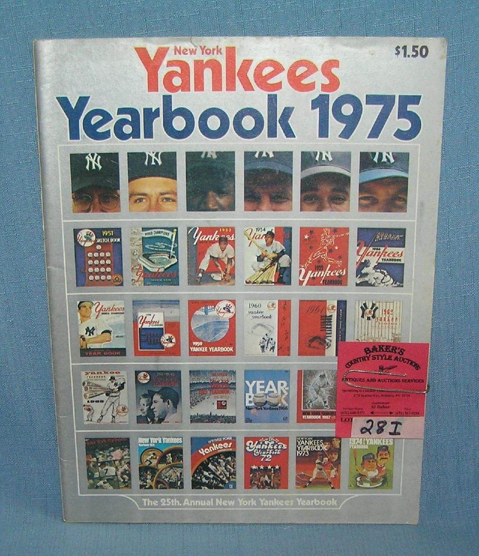 NY Yankees 1975 year book